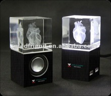 MF1547B Flash Crystal USB Speaker with Laser- logo
