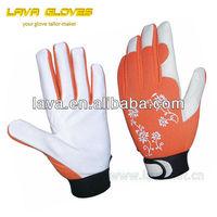 Pig leather gardening Gloves shock resistant