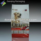 Plastic packaging top sealed bag,laminated pouch for dog treat packaging