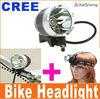 1600 lumen high power cree led bike light with 8.4v 8800mAh battery powered