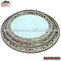 médio oriente estilo oval melamina rígido de prato de plástico