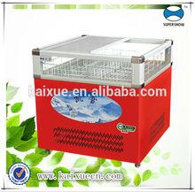 glass showcase refrigerator/ dairy and soft drink storage
