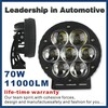 2014 hotest!! new design IP68 70w led work light 11000 lumens Led driving light with life-time warranty