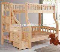 Double Durable Modern Adult Solid Wood Bunk Bed Beech Solid Wood Children Bedroom Furniture Wooden Double Bunk Bed