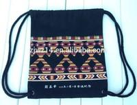 2015 cheap fashion fabric cotton bags with ribbon drawstring
