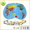 Baby Novelty Flag Middle Wooden World Map