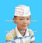 Kids paper chef hat