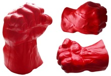 PU stress fist/boxing glove drink can holder stress reliever/squeeze toy
