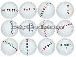 Golf Practice ball with black stripe bulk golf driving range ball golf range ball wholesale B111