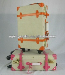 trunk old style flight case suitecase trolley (handmade) baggage