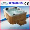 Wooden Skirt Outdoor Morden Massage Bathtub,Outdoor Spa