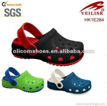 Jelly PVC transparent upper EVA insole men shoes garden clogs