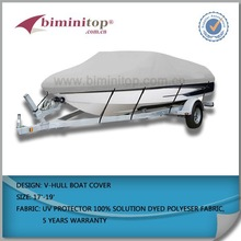 100%pigment polyester UV-protection Waterproof boat cover with direct china factory supply.