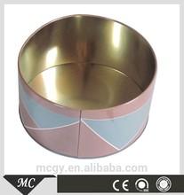 Round Perfum Tin Can Large Metal Box Cake Cans Christmas Tin Box