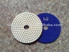 Cheap Diamond Polishing Pads 4 Wet/Dry Backer Granite Stone Concrete