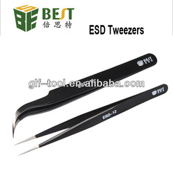 BEST-ESD Professional Supplier Stainless Steel Tweezers/Straight Tweezers/ Curved Tweezers