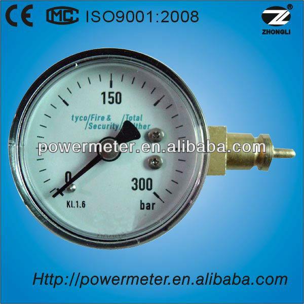 Y50A-50mm bourdon tube pressure gauge/bourdon tube/outlet/black steel case