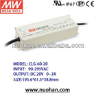 Meanwell 60W Single Output LED Power Supply led lighting driver/led driver ip67/waterproof led light driver