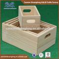 nuovo progettato 2014 naturale all ingrosso unfinishd di legno a buon mercato cassette per la frutta in vendita