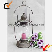 Luckywind rustic decorative metal lantern candle
