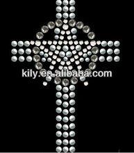 2015 new garment accessory cross of strass