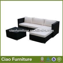 Tecer exterior conjunto de sofá de l sofá-forma da china