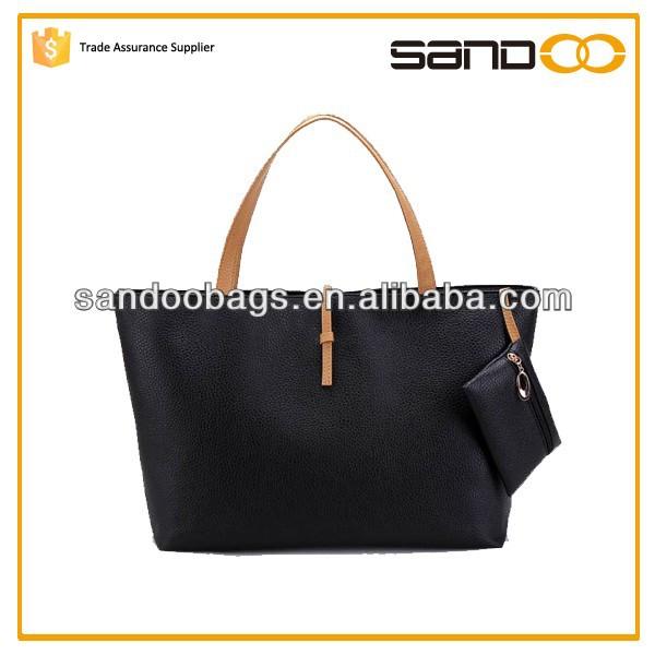 2015 New design wholesale fashion PU leather lady bag, woman leather tote bag