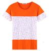New pattern short sleeve promotion t-shirt,slim fit girls t-shirt