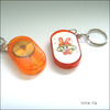 LED Flashlight Key Chain/ Custom Promotion Gift Plastic LED Keychain With Light