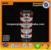 Atacado elegante cor alto decorativo vaso de vidro