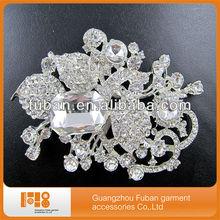 Wholesale cheap crystal rhinestone brooch hijab pins for wedding in bulk