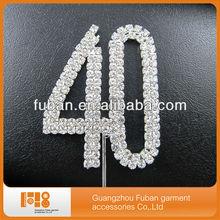 Diamante number rhinestone cake topper, wedding cake decoration wedding accessory