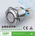 Cmp 22mm imperméable à l'eau en acier inoxydable commutateur de bouton poussoir avec led interrupteur électrique
