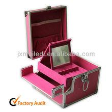 Aluminum Jewelry Display Box Aluminium Cases With Tray