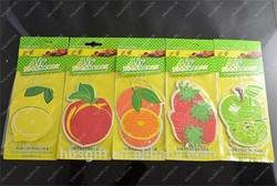 Multi-color special design fruit shape hanging paper car air freshener