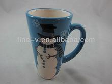 Snowman coffee cup mug