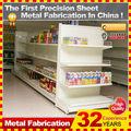 customerize comercial de acero montado en la pared de exhibición del estante de metal
