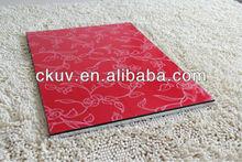 CKUV / Embossed color painted mdf uv board for cabinet & wardrobe / kitchen design /
