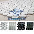 preto e branco mosaicos de cerâmica vitrificada cor hexagon mosaico para fornecimento de fábrica venda