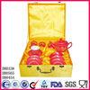 Red glazed chinese promotional gift ceramic tea set