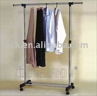Expandable Stainless Steel Single Pole Pipe Clothes Rack with Cheap Price,DIY Style