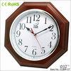 12 inches octagonal wooden wall clock of Zhangzhou