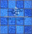 Nuevos productos 73x73mm azul mosaico de cerámica para la piscina de natación, de la cocina, cuarto de baño y la decoración del hogar