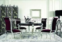 الطاولة والكراسي العتيقة بيده نحت والفضة ليف/ العربية الخشب والأثاث مائدة الطعام والكراسي yl-a9050-4