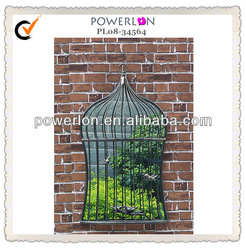 birdcage shaped mirror home decor