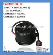 toyota hiace motor fan motor #000563 fan motor for hiace 16363-20390 16363-75030