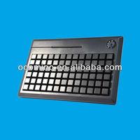 78 Keys POS Programmable Keyboard with Card Reader--KB78