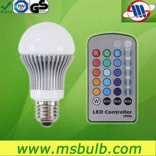 LED bulb E27 RGB changable color