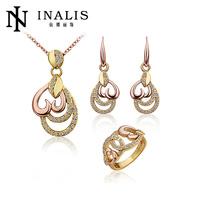 Handmade Genuine dubai gold jewelry set / wedding jewellery designs with wedding dress S216