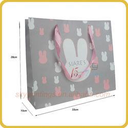 Adorable Easter bunny printing festival paper bag